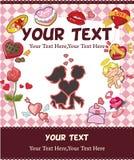 Cartão do amor dos desenhos animados Foto de Stock