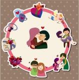 Cartão do amor dos desenhos animados Imagem de Stock