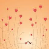 Cartão do amor dos pássaros Foto de Stock