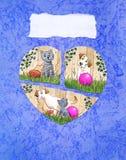 Cartão do amor e da amizade Fotografia de Stock
