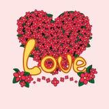 Cartão do amor, vetor ilustração royalty free