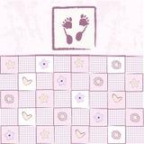 Cartão do anúncio da chegada do bebé ilustração do vetor