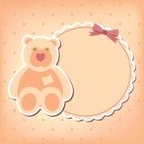 Cartão do anúncio da chegada do bebé Fotografia de Stock Royalty Free