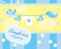 Cartão do anúncio da chegada do bebé Fotos de Stock