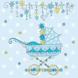 Cartão do anúncio da chegada do bebê. Imagem de Stock