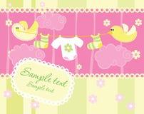 Cartão do anúncio da chegada do bebê imagens de stock royalty free