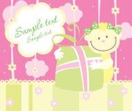 Cartão do anúncio da chegada do bebê Imagens de Stock