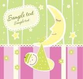 Cartão do anúncio da chegada do bebê Fotografia de Stock