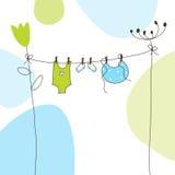 Cartão do anúncio da chegada do bebê Fotos de Stock