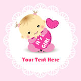 Cartão do anúncio da menina Foto de Stock