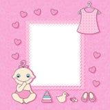 Cartão do anúncio do bebé. Fotografia de Stock