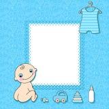 Cartão do anúncio do bebé. Imagem de Stock