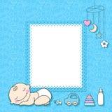Cartão do anúncio do bebé. Fotografia de Stock Royalty Free