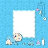Cartão do anúncio do bebé. Foto de Stock Royalty Free
