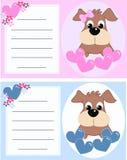 Cartão do anúncio do bebê Imagens de Stock