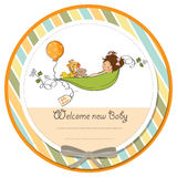 cartão do anúncio do bebê Imagens de Stock Royalty Free