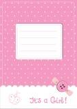 Cartão do anúncio do bebê Fotos de Stock