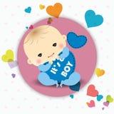 Cartão do anúncio do bebê Foto de Stock