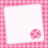 Cartão do anúncio do bebê. Ilustração do vetor. Imagens de Stock Royalty Free
