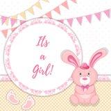 Cartão do anúncio do bebê Ilustração do vetor Fotos de Stock Royalty Free