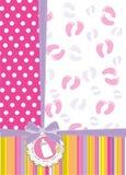 Cartão do anúncio do chuveiro de bebê Imagem de Stock Royalty Free