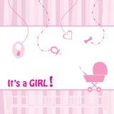 Cartão do anúncio do nascimento Imagens de Stock