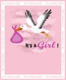 Cartão do anúncio do nascimento Foto de Stock Royalty Free