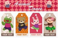 Cartão do animal dos desenhos animados Imagem de Stock