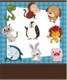 Cartão do animal dos desenhos animados Imagens de Stock Royalty Free