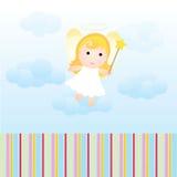 Cartão do anjo do bebê ilustração do vetor