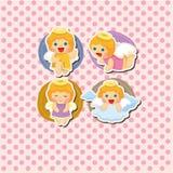 Cartão do anjo dos desenhos animados Imagem de Stock