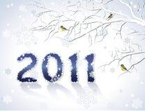 Cartão do ano 2011 novo ilustração stock