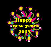 cartão do ano 2013 novo Foto de Stock Royalty Free