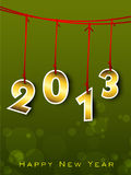 Cartão do ano 2013 novo feliz. Imagens de Stock Royalty Free