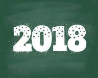 Cartão 2018 do ano novo ilustração royalty free
