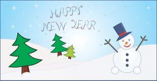 Cartão do ano novo Fotografia de Stock
