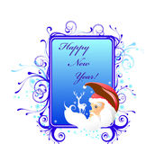 Cartão do ano novo ilustração royalty free