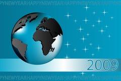 Cartão do ano novo - 2009 Fotos de Stock Royalty Free