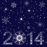 Cartão do ano 2014 novo Imagens de Stock Royalty Free