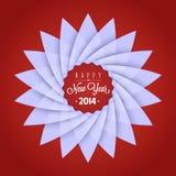 Cartão do ano 2014 novo Fotografia de Stock Royalty Free