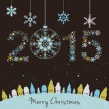Cartão do ano 2015 novo Imagens de Stock