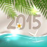Cartão do ano 2015 novo ilustração royalty free