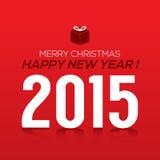 Cartão do ano 2015 novo Foto de Stock Royalty Free
