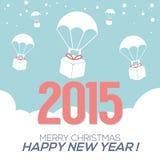 Cartão do ano 2015 novo Fotos de Stock