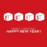 Cartão do ano 2015 novo Imagem de Stock
