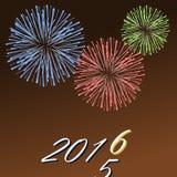 Cartão do ano novo Foto de Stock