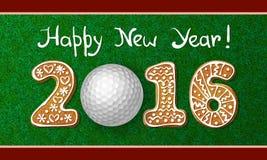 Cartão 2016 do ano novo ilustração stock
