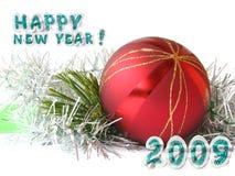Cartão do ano novo Imagem de Stock Royalty Free