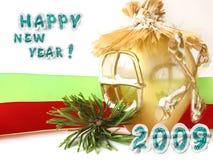 Cartão do ano novo Fotografia de Stock Royalty Free