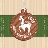Cartão do ano novo com cabra Imagem de Stock Royalty Free